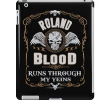 ROLAND blood runs through your veins iPad Case/Skin
