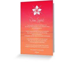 Affirmation - Warm Spirit Greeting Card