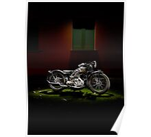 Gilera VL Lusso and Italian house Poster