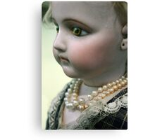 Rare Collectable Antique Doll Wonderful Life - Like Toy Canvas Print