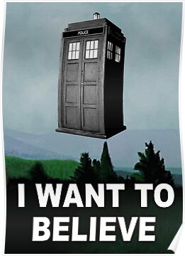 I Want to Believe ( Prints, Cards & Poster ) by PopCultFanatics