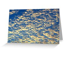 orange clouds Greeting Card