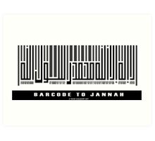 Barcode to Jannah Art Print