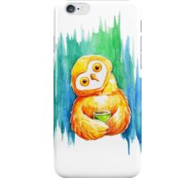 Drawing cute owl iPhone Case/Skin