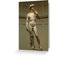 David; Michelangelo's Masterpiece Greeting Card
