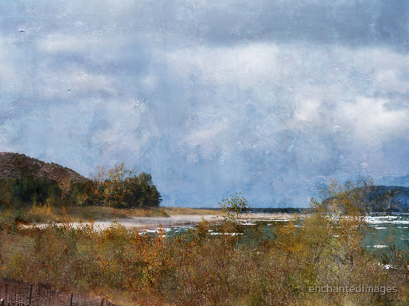 Lake Michigan Autumn by enchantedImages