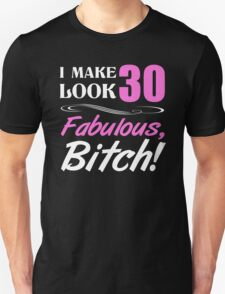 Fabulous 30th Birthday T-Shirt Unisex T-Shirt