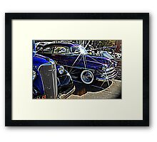 Blue Auto Bling Framed Print