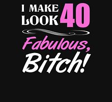 Fabulous 40th Birthday T-Shirt Womens Fitted T-Shirt