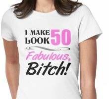 Fabulous 50th Birthday T-Shirt Womens Fitted T-Shirt