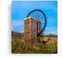 Dare Valley pit wheel Canvas Print