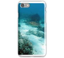 Swimming sea turtle iPhone Case/Skin