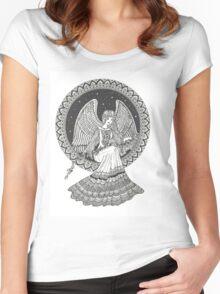 Guardian Angel art Women's Fitted Scoop T-Shirt