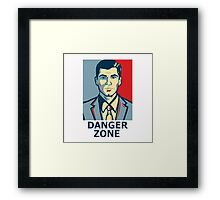 Archer - Sterling Archer - Danger zone Framed Print