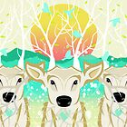 Roots To Grow and Wings To Fly (Three Deer New Dawn) by soaringanchor