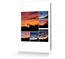 COLLAGE OF EARLY MORNING SUNRISES Greeting Card
