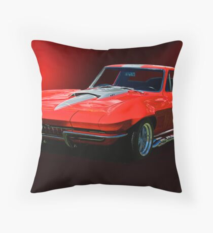 1967 Corvette Stingray 427 cu.in. Throw Pillow