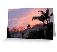WATERCOLOR SUNSET OVER MOUNTANS  Greeting Card