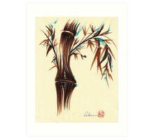 REFLECT -  Sumi-e ink brush pen Zen bamboo painting Art Print
