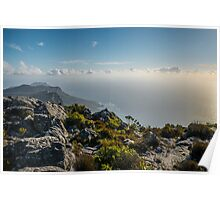 Cape Point from the top of Table Mountain Poster