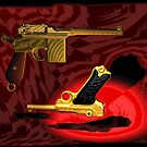 Mauser C96 & Luger P08 (Parabellum) - Pop Art Guns by andreisky