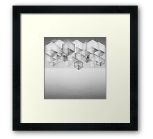 Boxes Hit the Ceiling Framed Print