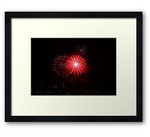 Fireworks red  Framed Print