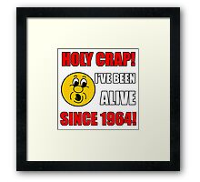 1964 50th Birthday Gag Gift T-Shirt Framed Print