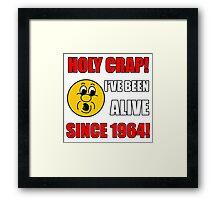 1964 50th Birthday Gag Gift T-Shirt Framed Print