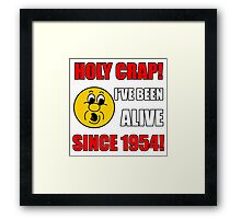 1954 60th Birthday Gag Gift T-Shirt Framed Print