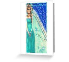 Elsa: Let it Go Greeting Card