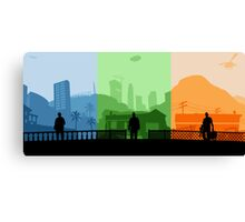 Grand Theft Auto: Trio Canvas Print