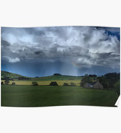 Rolling Scottish Countryside Poster