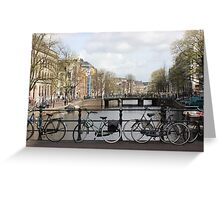 Bikes, bikes and more bikes Greeting Card