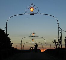 Romance On The Old Lantern Bridge by Menega  Sabidussi