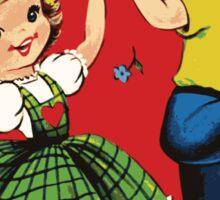 Retro Valentine Sticker