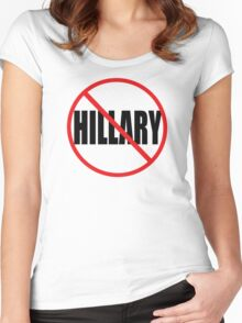 NO HILLARY Women's Fitted Scoop T-Shirt