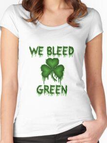 We Bleed Green Irish Shirt Women's Fitted Scoop T-Shirt