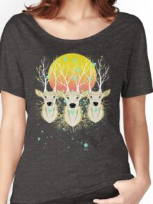 Roots To Grow and Wings To Fly (Three Deer New Dawn) Women's Relaxed Fit T-Shirt