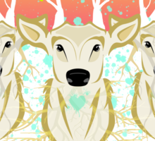 Roots To Grow and Wings To Fly (Three Deer New Dawn) Sticker