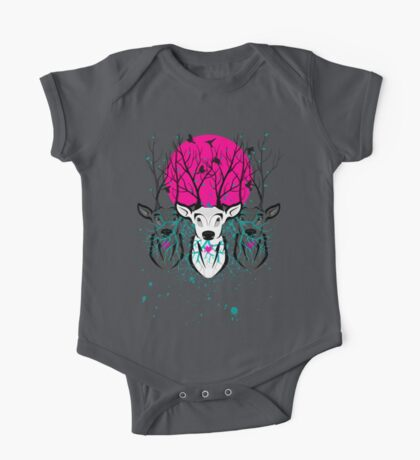 Roots To Grow and Wings To Fly (Three Deer Twilight) One Piece - Short Sleeve