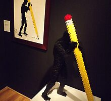 Lego, Art of the Brick Exhibition, Nathan Sawaya, Artist, Discovery Times Square, New York City   by lenspiro