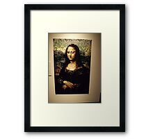 Lego, Mona Lisa, Art of the Brick Exhibition, Nathan Sawaya, Artist, Discovery Times Square, New York City   Framed Print