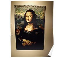 Lego, Mona Lisa, Art of the Brick Exhibition, Nathan Sawaya, Artist, Discovery Times Square, New York City   Poster