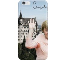 Angela and the castle of Neuschwanstein  iPhone Case/Skin