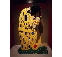 """Lego, """" The Kiss"""", Art of the Brick Exhibition, Nathan Sawaya, Artist, Discovery Times Square, New York City   Photographic Print"""