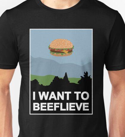 I want to beeflieve Unisex T-Shirt