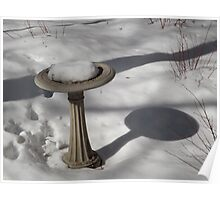 Bryant Park Fountain, Snow View, New York City Poster
