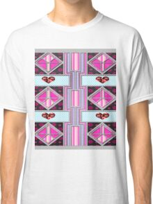 Valentine Heart patchwork gifts Classic T-Shirt