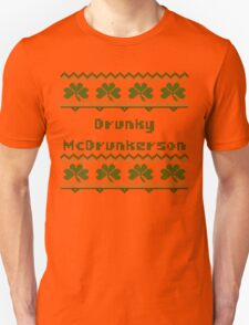 Drunky McDrunkerson Irish Sweater St Patricks Day  T-Shirt